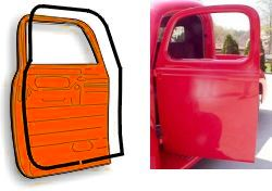 1955-1959 Chevrolet & GMC Pickups,Panels & Suburbans (smaller type) Dörrlister