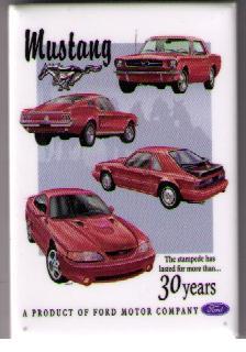 Mustang 30 Years kylskåpsmagnet