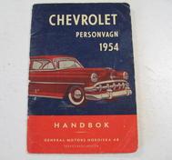 1954 Chevrolet Handbok Svenskt Original