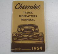 1954 Chevrolet Truck Operators Manual Nytryck
