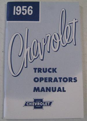 1956 Chevrolet Truck Operators Manual