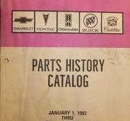 1982-1987 Parts History Catalog