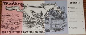 1965 Mustang Owner's Manual