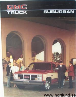 1986 GMC Suburban Broschyr
