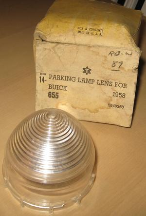 1958 Buick NOS glas till parkeringslykta blinkers