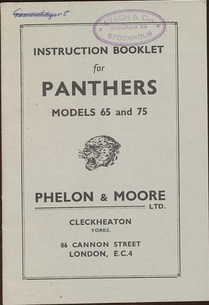 1949 Panther Model 65 and 75 Instruction Booklet