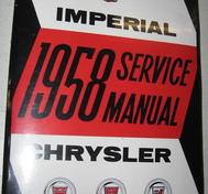 1958 Chrysler och Imperial Service Manual