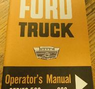 1963 Ford Truck 500-800 Operator's Manual