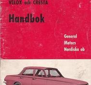 1963 Vauxhall PB Velox & Cresta Handbok svensk