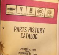 1976-1981 Parts History Catalog