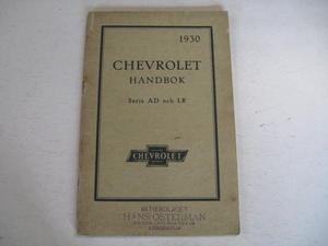 1930 Chevrolet Handbok Serie AD & LR Svenskt Original
