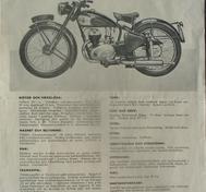 1950 Excelsior Roadmaster 197 cc broschyr svensk