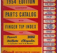 1937 - 1954 Chrysler De Soto Dodge Plymouth Parts Catalog