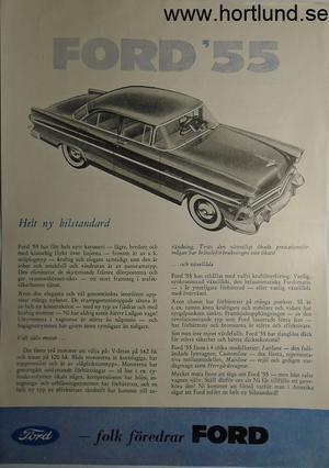 1955 Ford broschyr svensk