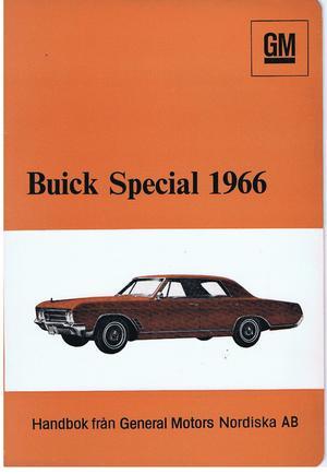 1966 Buick Special Handbok, svensk