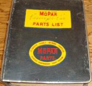 1954 Chrysler De Soto Dodge Plymouth Parts Catalog