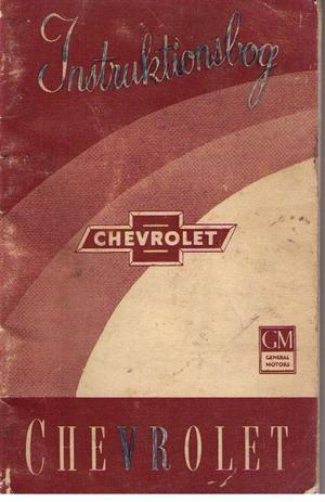 1954 Chevrolet instruktionsbok