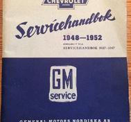 1948-1952 Chevrolet Servicehandbok supplement Svenska