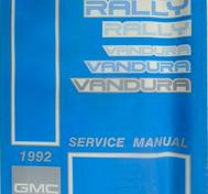 1992 GMC Vandura and Rally Models Service Manual