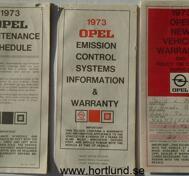 1973 Opel bilhandlingar