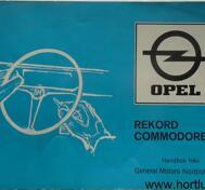 1973 Opel Record Commodore Handbok