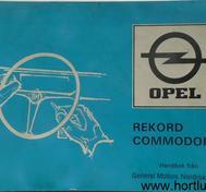 1974 Opel Record Commodore Handbok