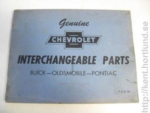1952 Chevrolet Interchangeable parts Buick, Oldsmobile, Pontiac