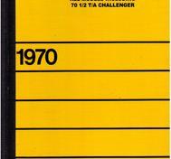 1970 Dodge Service Manual Challenger & Dart