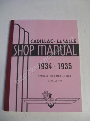 1934-35 Cadillac 355-D and 452-D La Salle 350 Shop manual