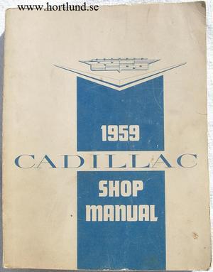 1959 Cadillac Shop Manual original