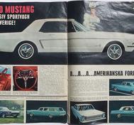 1965 Ford alla modeller broschyr svensk