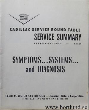 1963 Cadillac Service summary February 1963