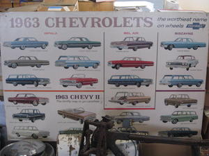 1963 Chevrolet Showroom-tavla