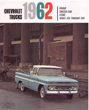 1962 Chevrolet Trucks broschyr