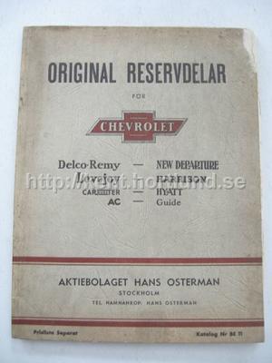 1939 Chevrolet Original Reservdelar På Svenska