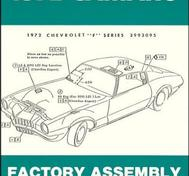 1972 Chevrolet Camaro Factory Assembly Instruction Manual