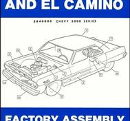 1964 Chevrolet Chevelle and El Camino Factory Assembly Instruction Manual