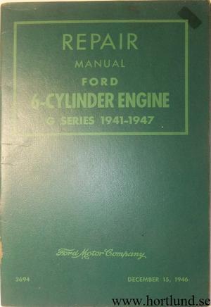 1941-1947 Ford 6-cylinder Engine Repair Manual