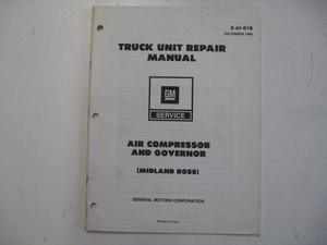 1980 Chevrolet Truck Unit Repair Manual Air Compressor and Governor