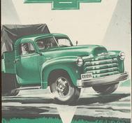 1952 Chevrolet Lastbilar broschyr Svenskt Original