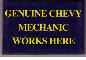 Chevrolet Mechanic kylskåpsmagnet
