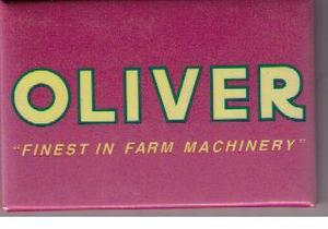 Oliver kylskåpsmagnet