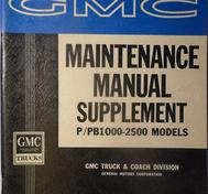 1963 GMC  Models P/PB1000,1500 och 2500 G Series Maintenance Manual Supplement