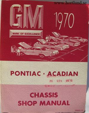 1970 Pontiac Strato-Chief, Laurentian, Parisienne, 2+2, Safari och Acadian Maintenance Manual