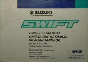 1995 Suzuki Swift Handbok