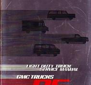 1985 GMC Light Duty Truck Service Manual