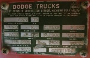 1963 Dodge D500 Truck