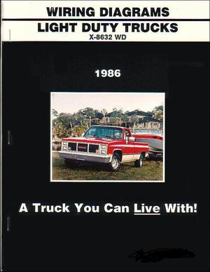 1986 GMC Light Duty Truck Wiring Diagrams CK G P